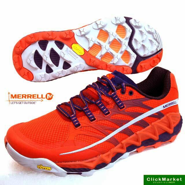 メレル MERRELL ALL OUT PEAK J03943 オールアウトピーク 橙 トレイルランニング メンズ画像