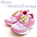 ディズニー DISNEY PRINCESS 7105 プリンセス スニーカー 運動靴/ベルクロ/マジックベルト 桃 キッズ