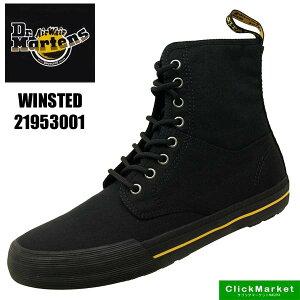 ドクターマーチン Dr.Martens WINSTED 21953001 黒 ウィンステッド キャンバス スニーカー メンズ