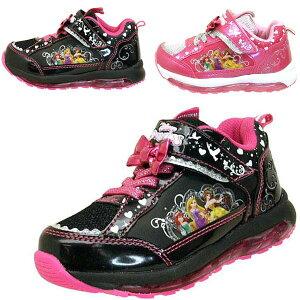 74b644cad55b1 ディズニー DISNEY PRINCESS プリンセス 7224 光るスニーカー アリエル ラプンツェル ベル 運動靴 ベルクロ マジック
