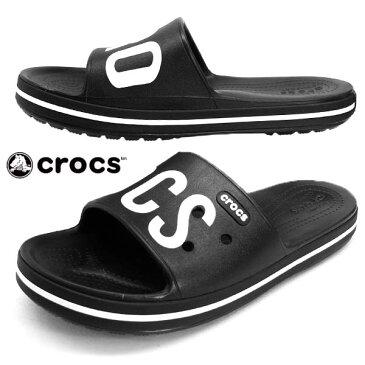 クロックス crocs crocband 3 printed slide 206003-066 黒 クロックバンド プリンテッド スライド サンダル レディース/メンズ
