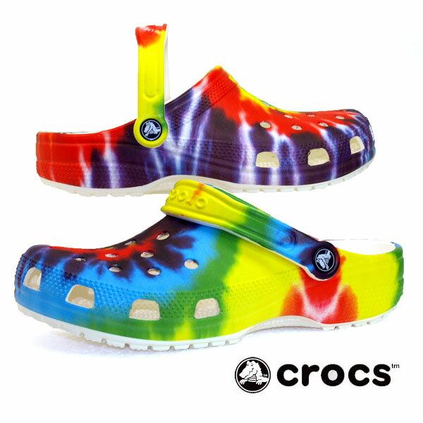 サンダル, コンフォートサンダル  crocs classicc Tie Dye Graphic Clog 205453 90h