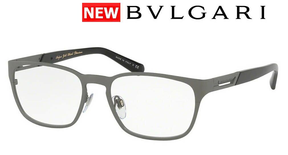 新品 ブルガリ メガネフレーム BVLGARI 高品質 イタリア製 品番BV1098TK-2040 マットグレー18K メンズ ギフト誕生日 おしゃれケース 伊達めがね 老眼鏡 アイウエア チタンフレーム
