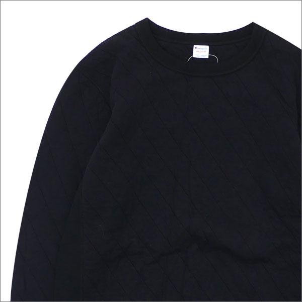 トップス, スウェット・トレーナー nanamica xChampion Quilting Knit Crew Neck Shirt BLACK 420000115041x SWT HOODY