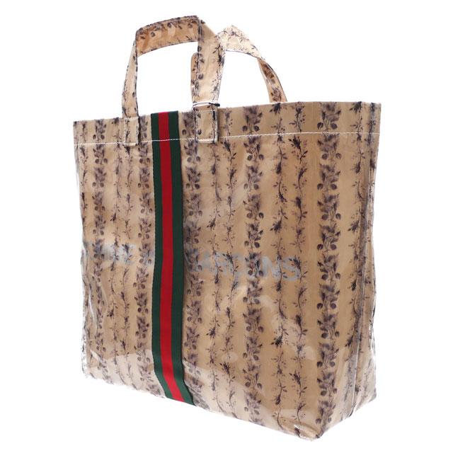 男女兼用バッグ, トートバッグ  COMME des GARCONS FLORAL PVC TOTE BAG BEIGE