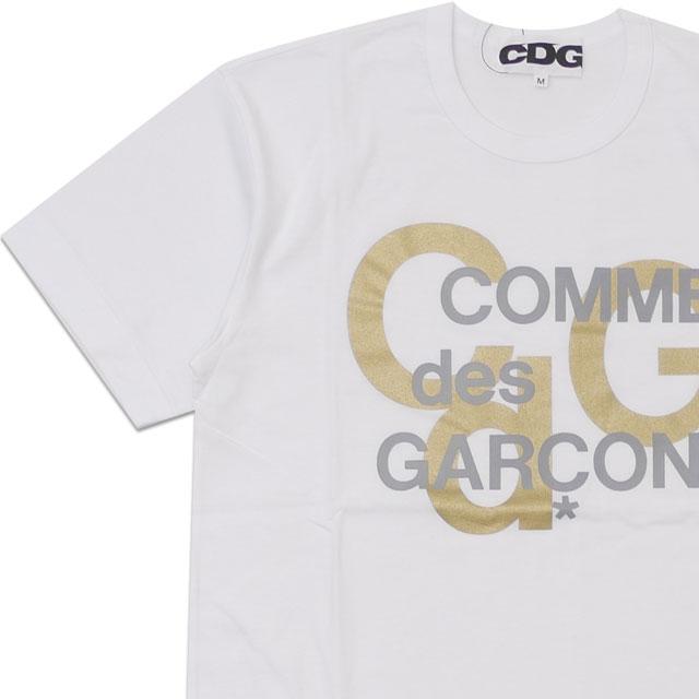 トップス, Tシャツ・カットソー  CDG COMME des GARCONS MENS LOGO GOLD PRINT TEE T WHITE T