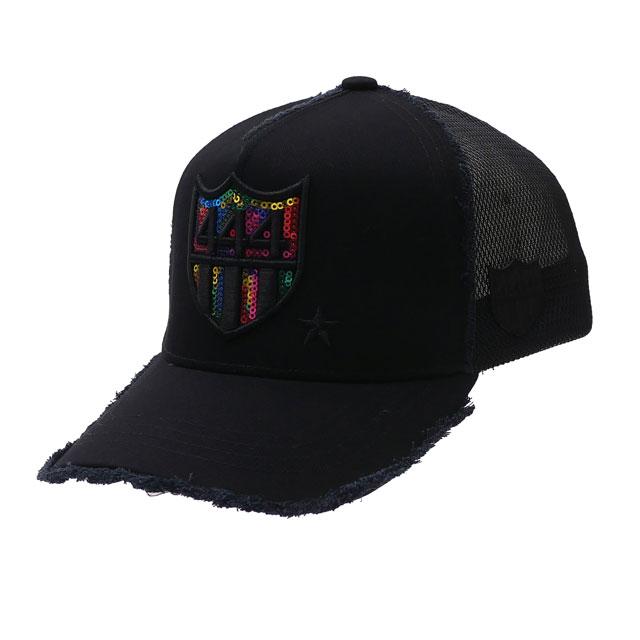 メンズ帽子, キャップ 100!! YOSHINORI KOTAKE 444LOGO SPANGLE MESH CAP BLACK