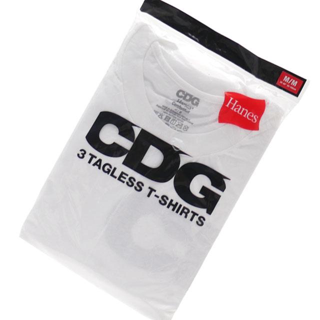 トップス, Tシャツ・カットソー CDG x Hanes 3 TAGLESS TSHIRTS T3 WHITE 200007941040 T