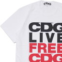 CDG シーディージー C.L.F.C.C. TEE Tシャツ WHITE 200007944040 【新品】 コムデギャルソン COMME des GARCONS