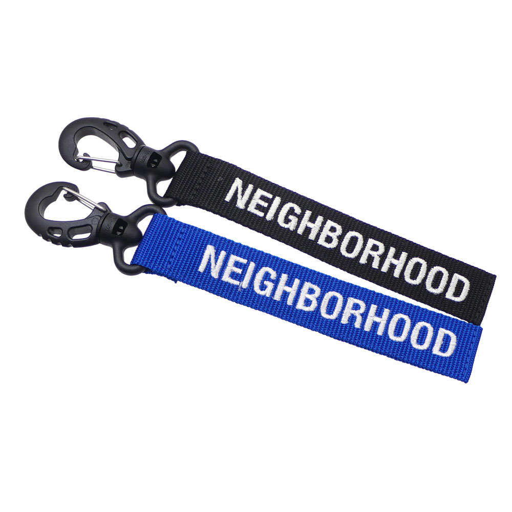 Here Comes A Ribbon Key Holder With The Brand Logo Both Colors Are So Attractive