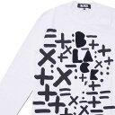 ブラック コムデギャルソン BLACK COMME des GARCONS FLOCK PRINT LOGO L S TEE 長袖Tシャツ WHITE 202000989040 【新品】
