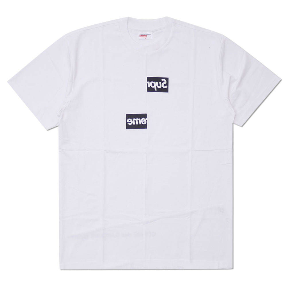 SUPREME X COMME Des GARCONS SHIRT : Split Box Logo Tee WHITE