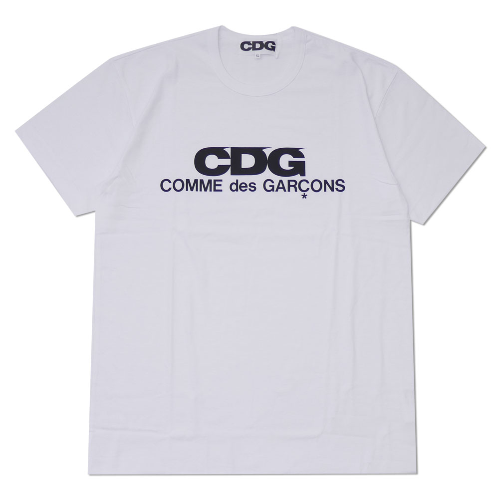 high fashion presenting the cheapest CDG (COMME des GARCONS) : LOGO TEE WHITE | Millioncart