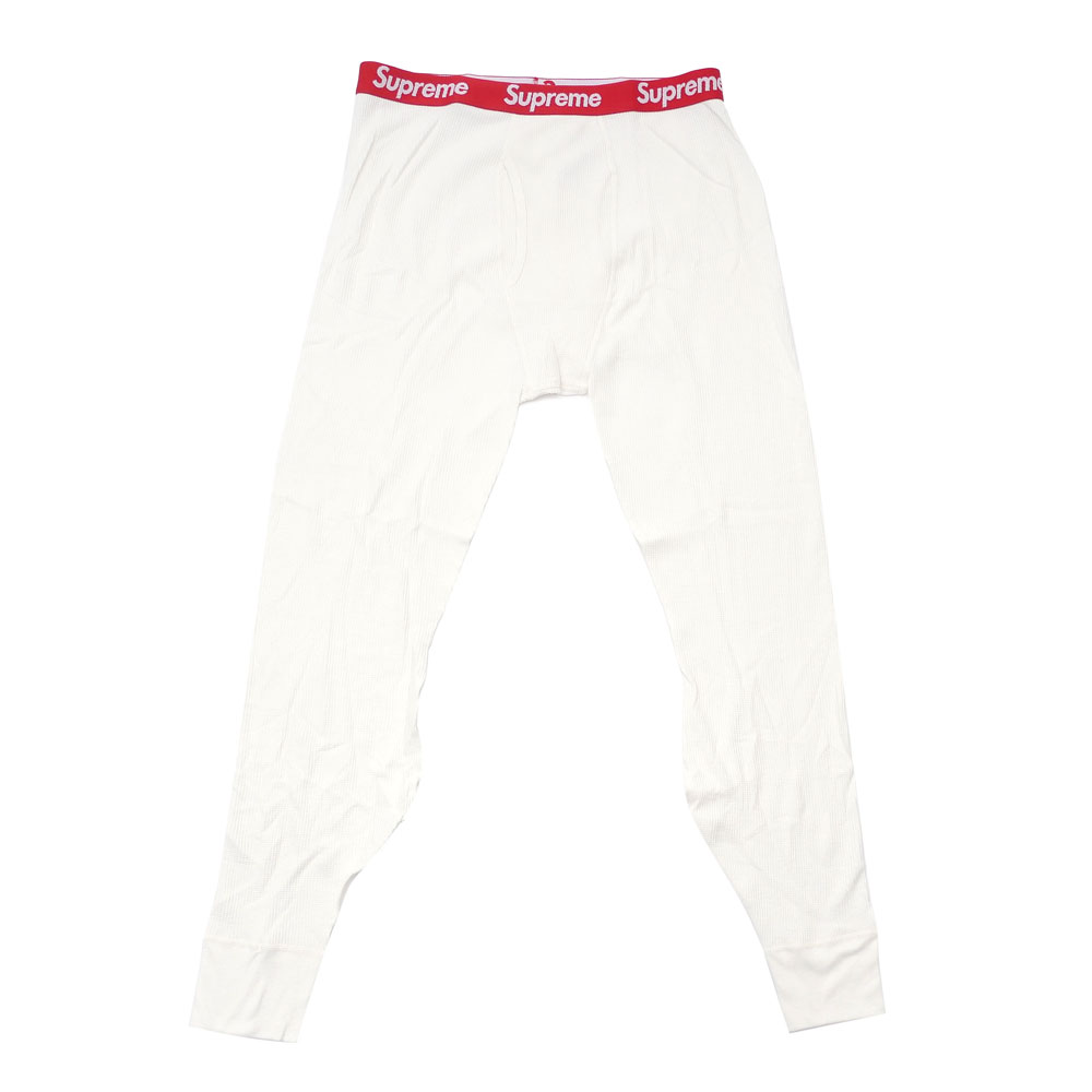 1d2f3a9241a2 Here comes a pair of Thermal Pant born from the collaboration with Hanes.  SUPREME LOGOs on the waist add spice!