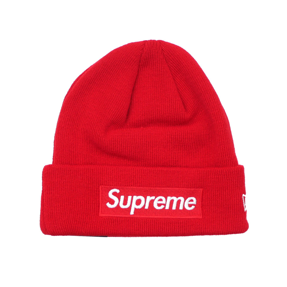 9431896439264 SUPREME   New Era Box Logo Beanie RED