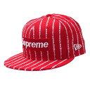 シュプリーム SUPREME 19SS Text Stripe New Era ニューエラ ボックスロゴ キャップ RED レッド 赤 メンズ 【新品】 2019SS 250000467033