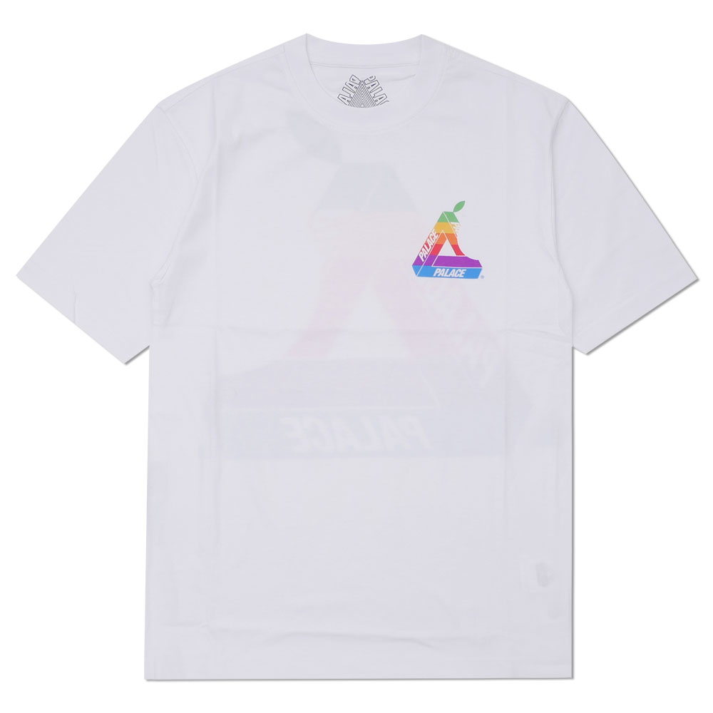 f79300a6 This brand is getting more and more popular! Here comes a T-shirt with  rainbow triangle logo with a leaf on the front chest and on the back.