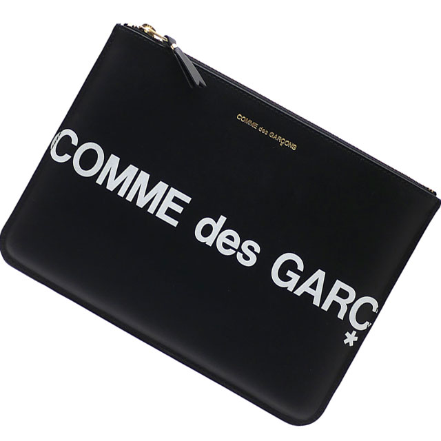 メンズバッグ, クラッチバッグ・セカンドバッグ  COMME des GARCONS Huge Logo Pouch BLACK 288001196011