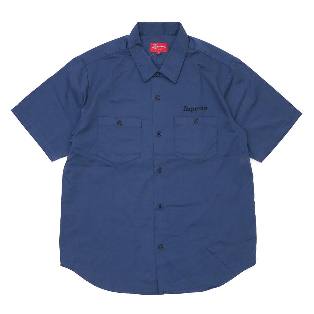 SUPREME : Sekintani La Norihiro Work Shirt LIGHT NAVY
