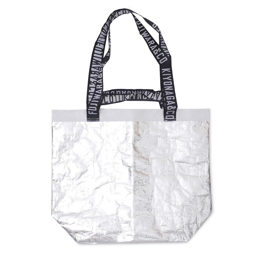 THE CONVENI KIYONAGA&CO. FUJIWARA&CO. : SHOPING TOTE BAG SILVER
