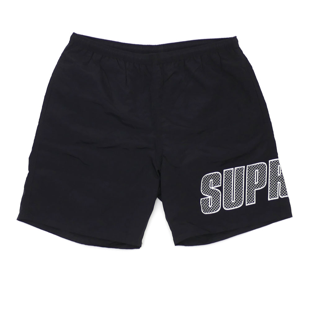 SUPREME : Logo Applique Water Short BLACK
