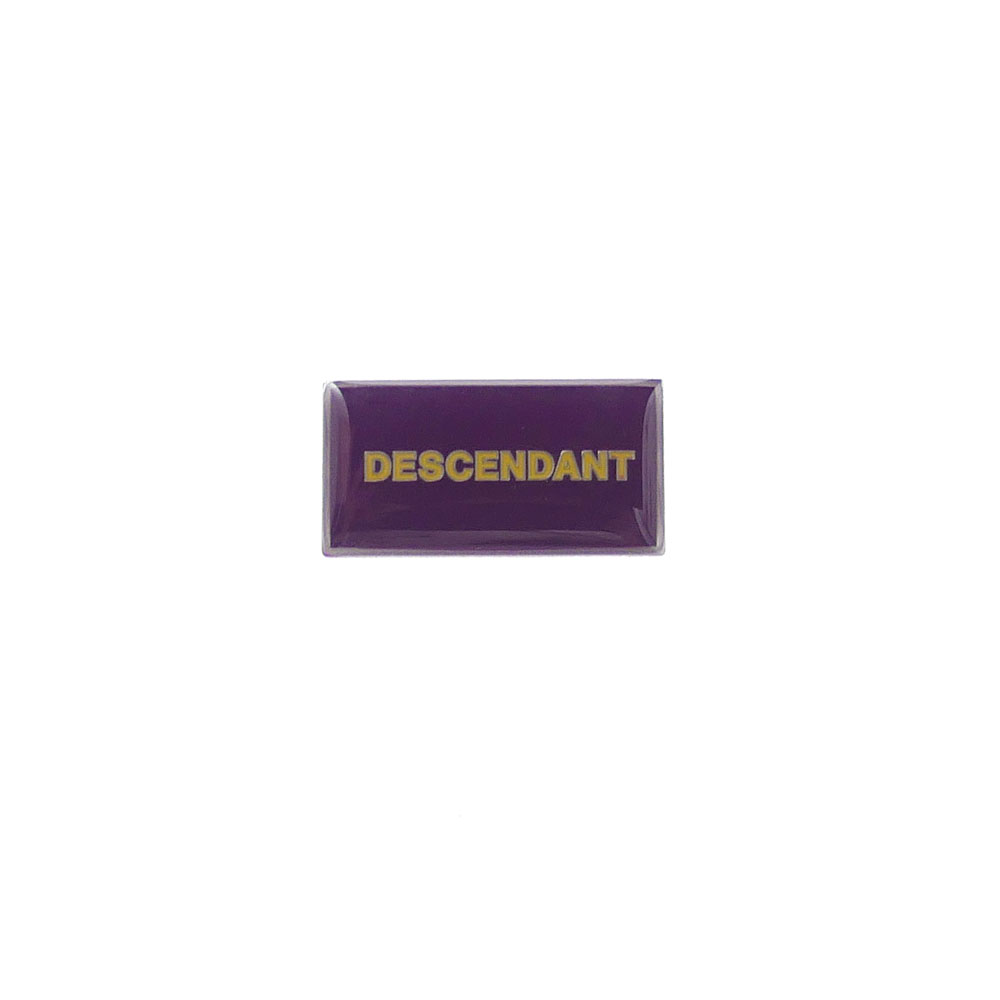 DESCENDANT : BOX PINS PURPLE 191MYDS-AC01