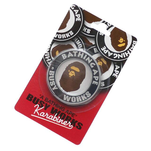バッグ・小物・ブランド雑貨, その他  A BATHING APE 19SS BUSY WORKS KARABINER BLACK 1F20182055