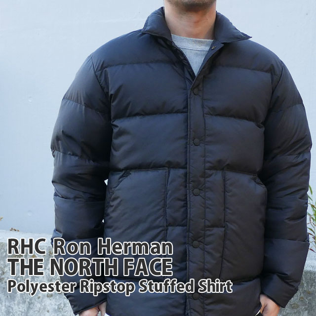 メンズファッション, コート・ジャケット 20213 !! RHC Ron Herman x THE NORTH FACE PURPLE LABEL Polyester Ripstop Stuffed Shirt BLACK