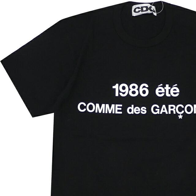 トップス, Tシャツ・カットソー  CDG COMME des GARCONS STAFF COAT PRINT TEE T BLACK
