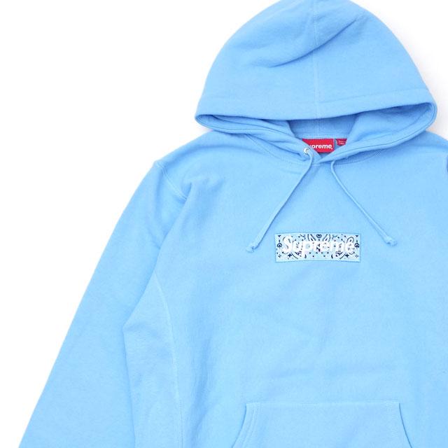 トップス, パーカー  SUPREME Bandana Box Logo Hooded Sweatshirt LIGHT BLUE