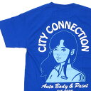 新品 オンエアー ON AIR City Connection S/SL Tee Tシャツ BLUE ブルー 青 メンズ 新作