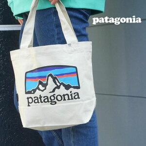【2021年3月度 月間優良ショップ受賞】 新品 パタゴニア Patagonia P-6 Logo Mini Tote トートバッグ エコバッグ Pastel P-6 Logo Bleached Stone ベージュ FRHB 59275 メンズ レディース 新作 39ショップ