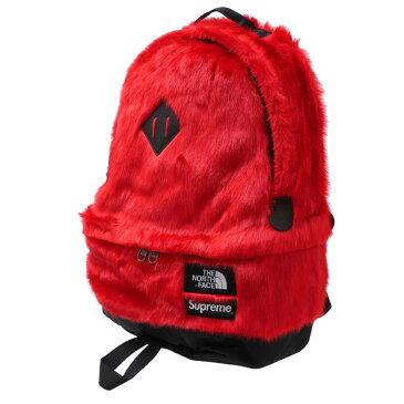 【2021年3月度 月間優良ショップ受賞】 新品 シュプリーム SUPREME x ザ ノースフェイス THE NORTH FACE Faux Fur Backpack バックパック RED レッド 赤 メンズ レディース 新作