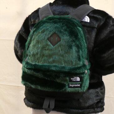 【2021年3月度 月間優良ショップ受賞】 新品 シュプリーム SUPREME x ザ ノースフェイス THE NORTH FACE Faux Fur Backpack バックパック GREEN グリーン 緑 メンズ レディース 新作