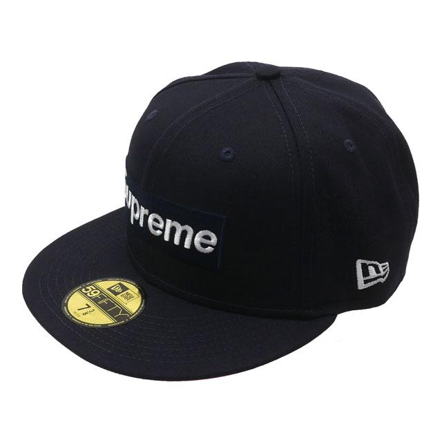 メンズ帽子, キャップ 20213 SUPREME 21FW No Comp Box Logo New Era BOX NAVY 2021FW 2021AW 21AW 39