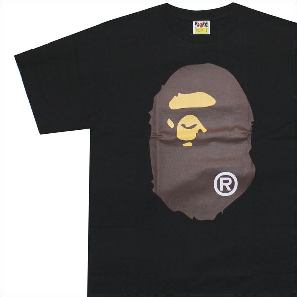 トップス, Tシャツ・カットソー  A BATHING APE BIG APE HEAD TEE T BLACK 1C80110004 200007193051