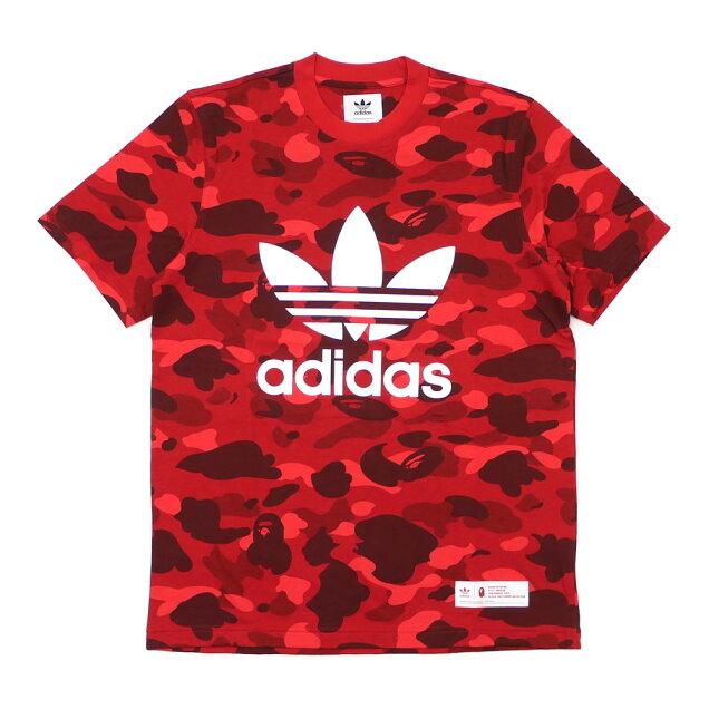 f0a4fc5b787 Cliff Edge  A BATHING APE (エイプ) x adidas Originals (Adidas) CAMO TEE  (T-shirt) RED 200-007920-033+