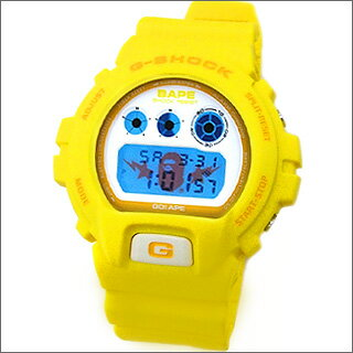 A BATHING APE(エイプ)xCASIOG-SHOCK DW-6900YELLOW(STA FACE)