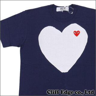 PLAY COMME des GARCONS ホワイトハート ワッペン Tシャツ [AZ-T184-051] NAVY 200-005073-057 200...