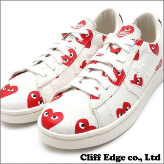 PLAY COMME des GARCONS x CONVERSE Heart Print Pro Leather Low [プロレザー] WHITE 291-001323-...