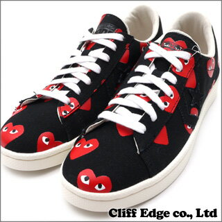 PLAY COMME des GARCONS x CONVERSE Heart Print Pro Leather Low [プロレザー] BLACK 291-001323-...