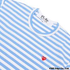 PLAYCOMMEdesGARCONS(プレイコムデギャルソン)SMALLREDHEARTボーダー長袖TシャツSAX202-000768-044+【新品】