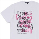 COMME des GARCONS(コムデギャルソン) live free TEE (Tシャツ) WHITE 200-007509-050x【新品】