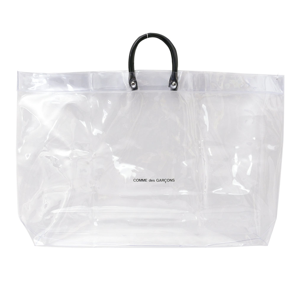 6ba87e12b Here comes a tote bag made of transparent PVC fabric!! The brand logo on  its body adds spice!!