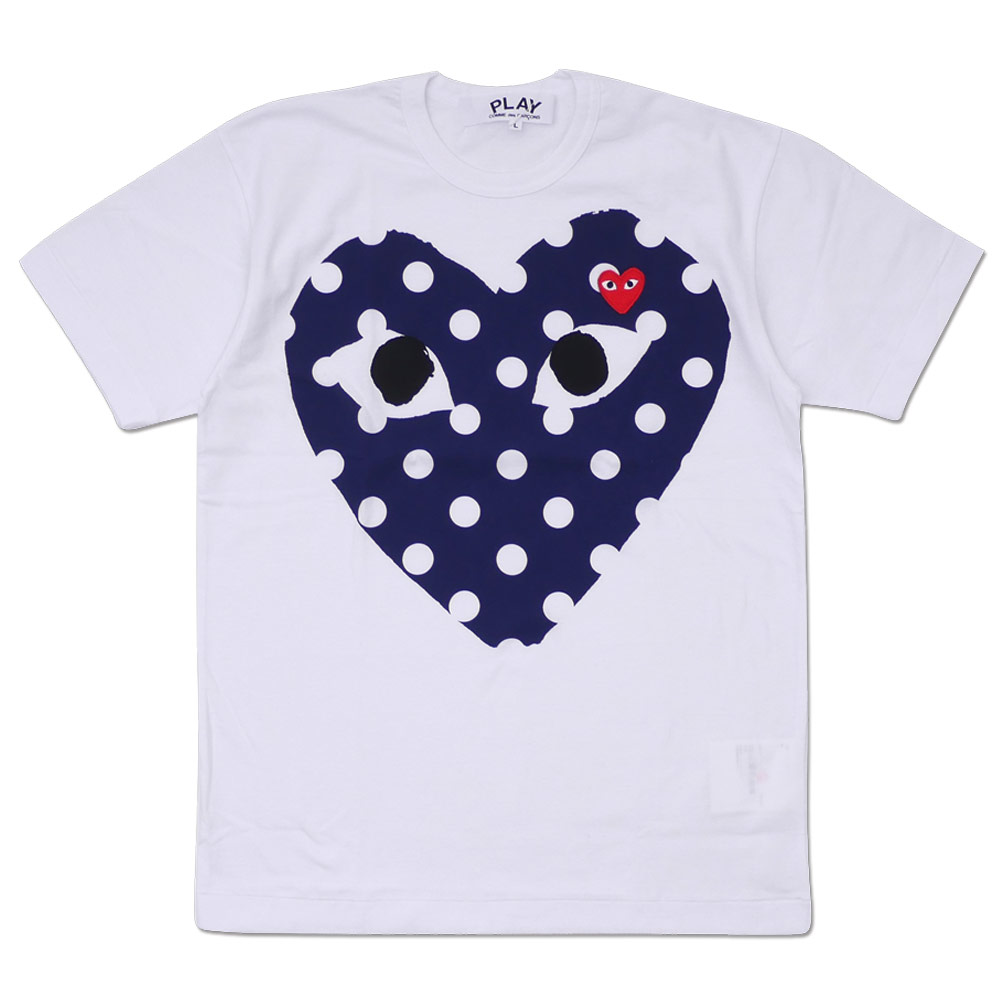 79423981bf1 PLAY COMME des GARCONS : MEN'S DOT HEART TEE WHITE | Millioncart