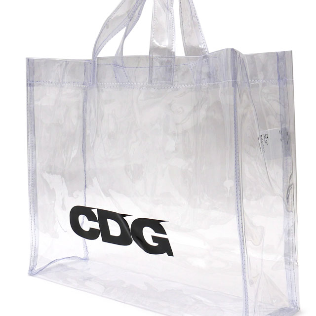 メンズバッグ, トートバッグ CDG TRANSPARENT PVC TOTE BAG CLEAR 277002526010 COMME des GARCONS
