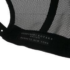 [バーニーズニューヨーク限定モデル]YOSHINORIKOTAKE(ヨシノリコタケ)xBARNEYSNEWYORK(バーニーズニューヨーク)444ロゴエナメルメッシュキャップ(CAP)BLACK251-000978-011+【新品】