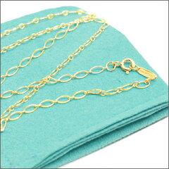 TIFFANY&CO.(ティファニー)K18イエローゴールド オーバルチェーン61cm【新品】GOLD267-000066...