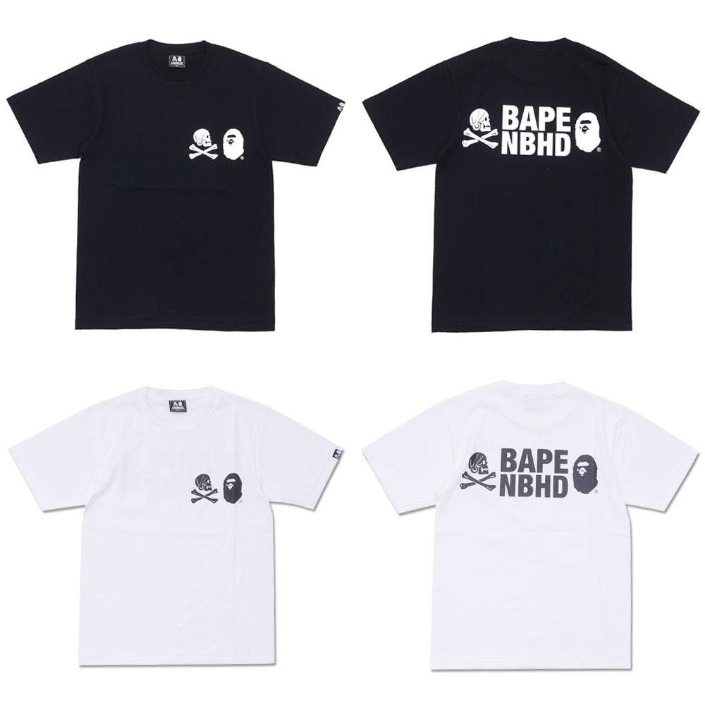 A Bathing Ape X Neighborhood Nhbp 2 C Teess Millioncart Bape Tee White Very Hot Collaboration Of Came True They Are Two The Most Famous Street Brands In Japan Please Hurry Up To Check Tough