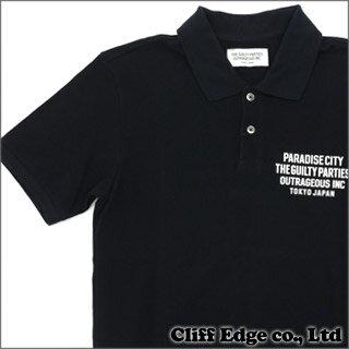 WACKOMARIA PARADISE CITY POLO SHIRT (ポロシャツ) BLACK 318-000016-041+